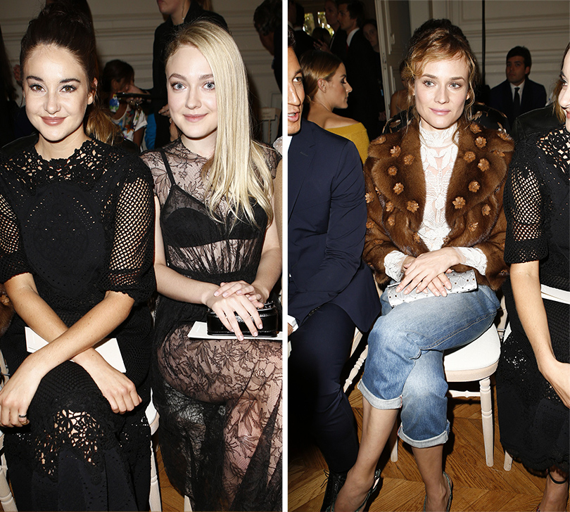 Style Notes: соло Пьерпаоло Пиччоли — весенняя коллекция Valentino. Дакота Фаннинг (справа). Диана Крюгер