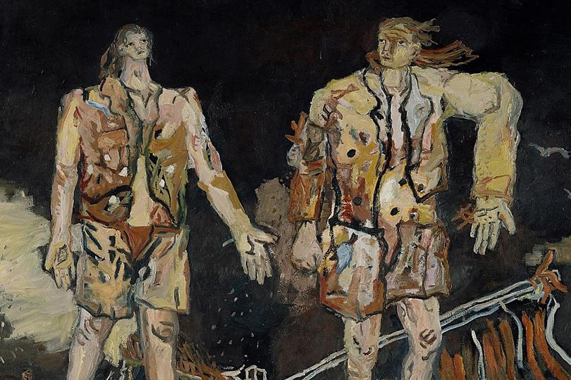 «Георг Базелиц. Герои»  Выставочный дворец, Рим, Италия  До18июня  Георг Базелиц. Большие друзья.1965