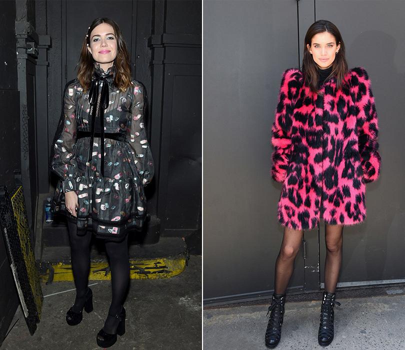 Style Notes: показ Marc Jacobs в Нью-Йорке. Мэнди Мур, Сара Сампайо