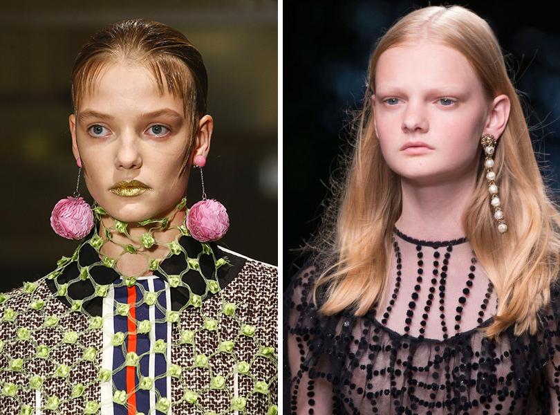 Style Notes: какую бижутерию выбрать этим летом? Prada (весна-лето 2016), Gucci (весна-лето 2016)