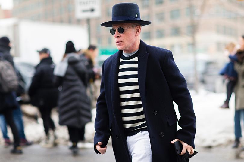 Street Style: уличный стиль наНеделе моды вНью-Йорке. Ник Вустер
