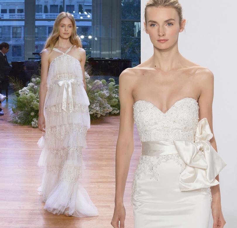 Wedding & More: 6 актуальных трендов с Недели свадебной моды в Нью-Йорке. Платья Monique Lhuillier, Dennis Basso