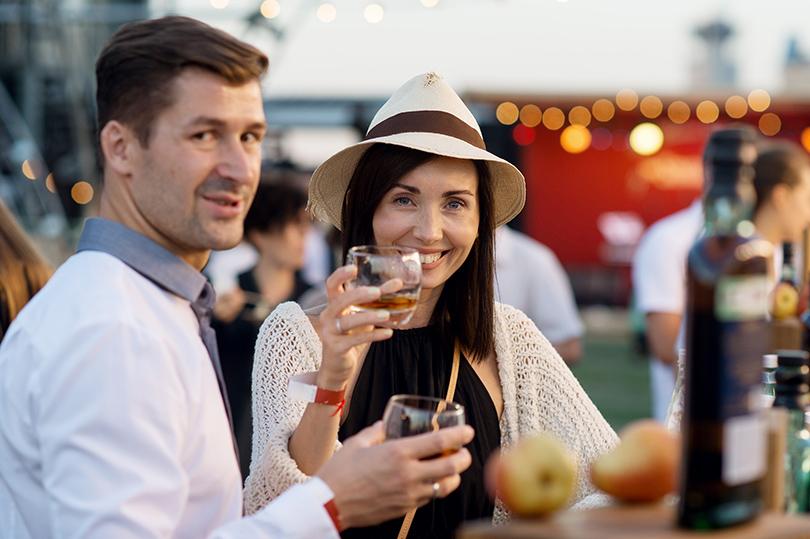 Вечеринка Simple Pleasures Rooftop Party. Дмитрий Шипилов и Мария Железнякова