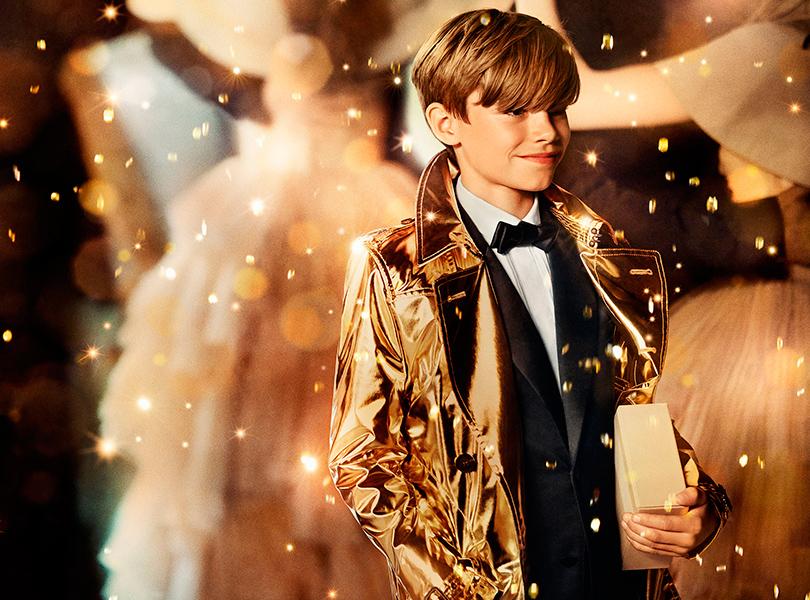 Новое поколение моделей: Ромео Бекхэм в рождественской кампании Burberry