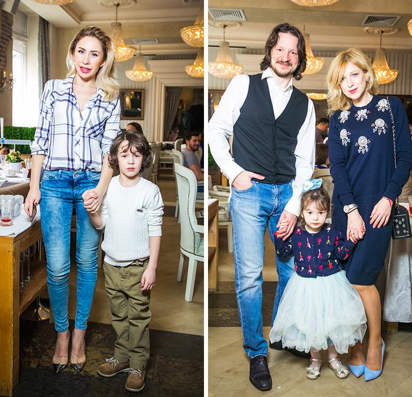 Анастасия Гребенкина с сыном. Максим Шабалин и Ирина Гринева с дочерью