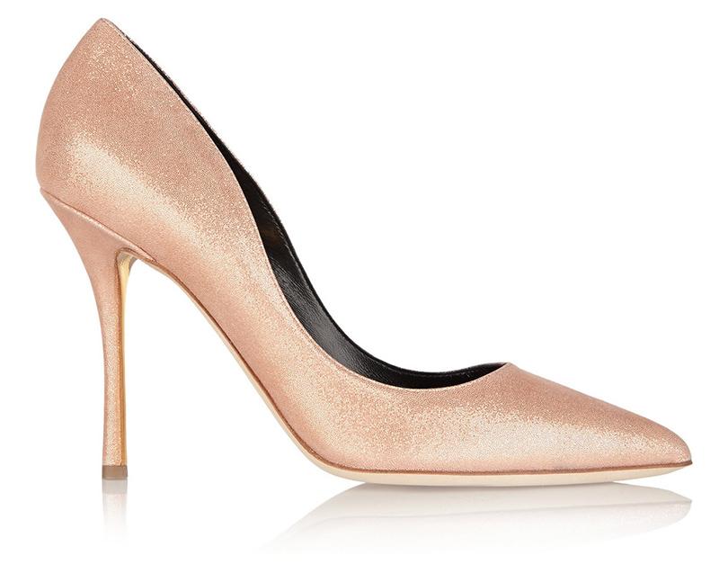 Новый год. Дресс-код: 28лучших пар обуви для новогодней вечеринки. Розовые лодочки Rupert Sanderson слегким шиммерным отливом