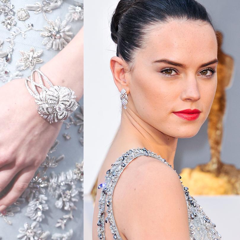 Ювелирные украшения звезд на церемонии «Оскар-2016»: Дэйзи Ридли в Chanel Fine Jewelry