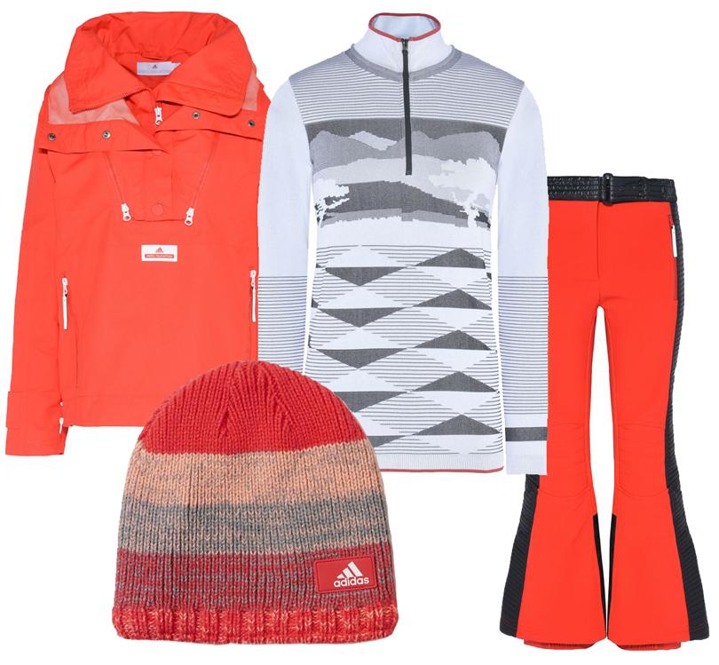 Style Notes: 8стильных образов для горнолыжного курорта налюбой вкус ибюджет. Куртка, штаны, топ— все adidas byStella McCartney, шапка adidas