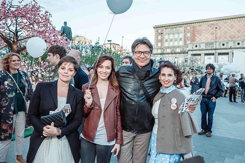 КиноТеатр: «Современник» отметил юбилей на Триумфальной площади. Евгения Милова, Сергей Николаевич и Ольга Юдкис