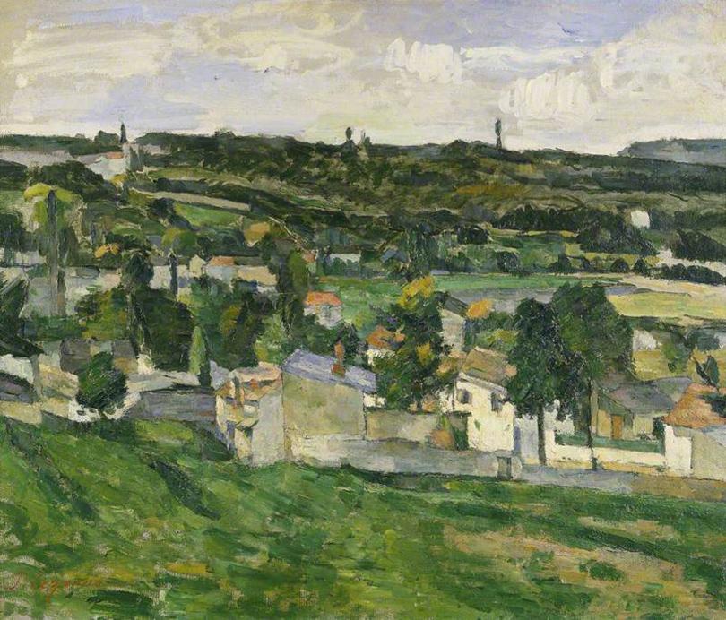 «Вид на Овер-сюр-Уаз» Поля Сезанна