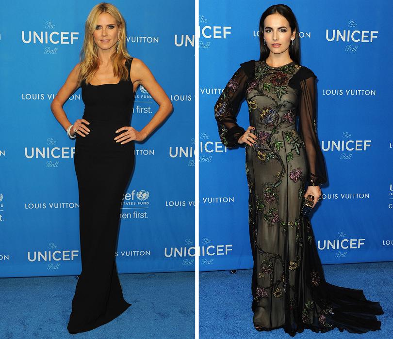 Ежегодный благотворительный бал UNICEF. Хайди Клум, Камилла Белль