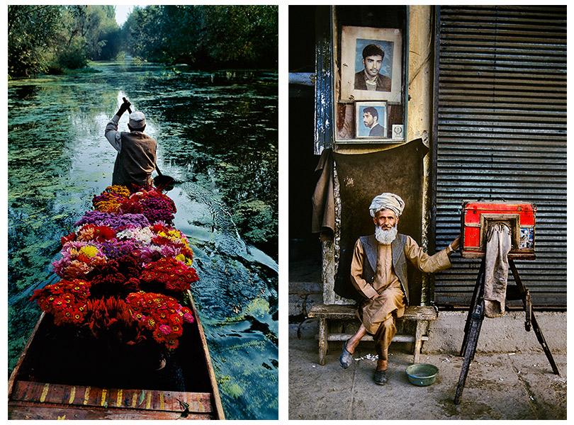 Продавец цветов наозере Дал. Сринагар, Джамму иКашмир, Индия.1996 Фотограф-портретист. Кабул, Афганистан.1992