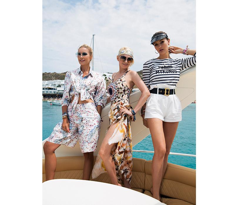 #postatravelnotes Лето. Миконос. Dior Riviera. Елена Летучая, Яна Рудковская иМаргарита Лиева встиле #diorriviera