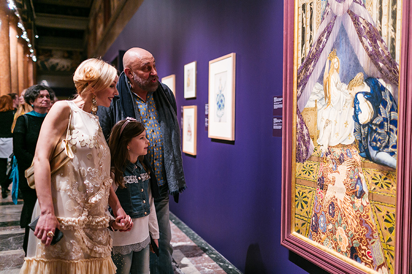 Art & More: юбилейная выставка Льва Бакста в Пушкинском музее. Марина Зудина с дочерью и Павел Каплевич