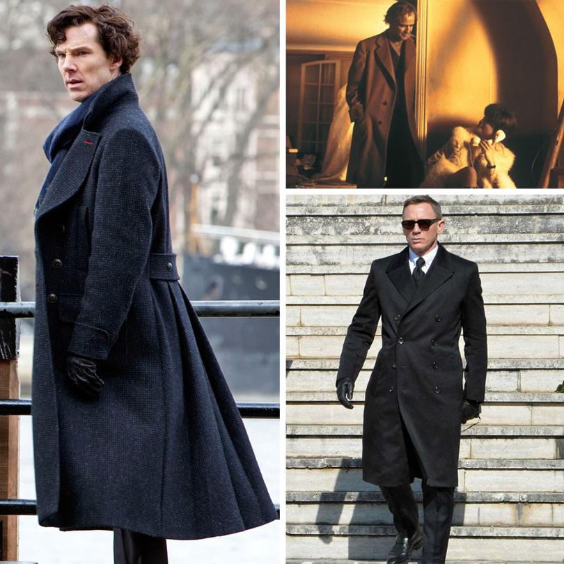 Men inStyle: как носить самые актуальные пальто весеннего сезона. Мужчины, которые нас вдохновляют: Марлон Брандо вфильме «Последнее танго вПариже», Шерлок Холмс висполнении Бенедикта Камбербэтча, Дэниел Крейг вроли агента 007в киноленте «Спектр»