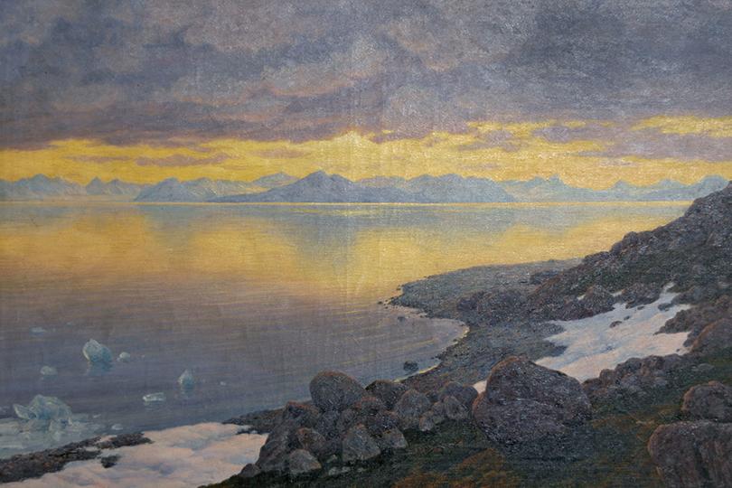 Иван Шультце. «Арктический пейзаж. Шпицберген», 1910г.