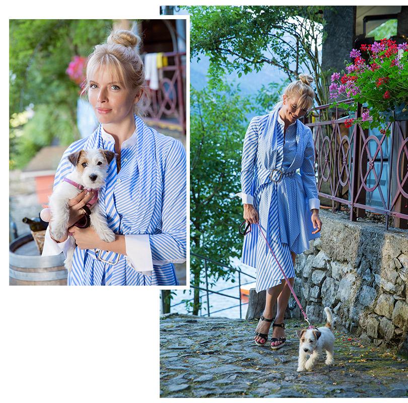 На Анне: платье, Mila Marsel