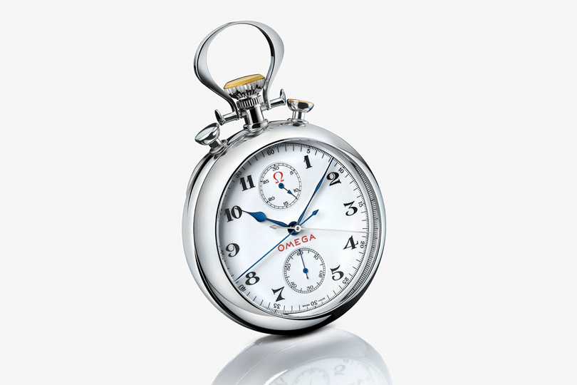 Olympic Pocket Watch 1932 Rattrapante Chronograph, Omega