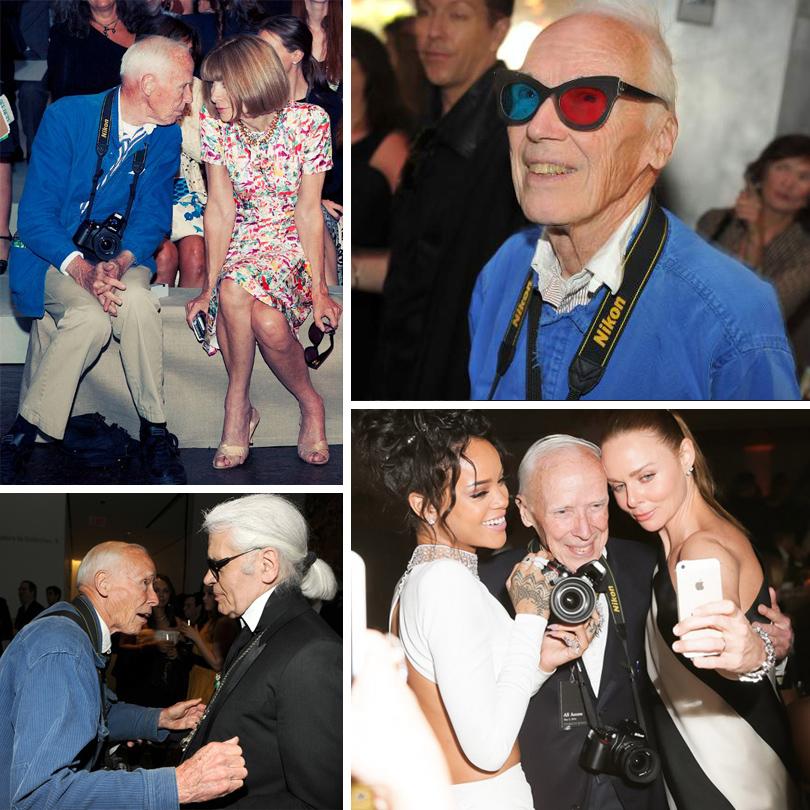 Style Notes: легенда модной индустрии и основатель направления street-style фотографии. Билл Каннингем с Анной Винтур, Карлом Лагерфельдом, Рианной и Стеллой Маккартни