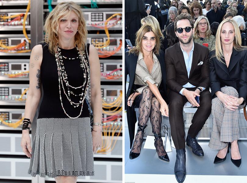 Style Notes: взгляд в будущее. Показ Chanel на Неделе моды в Париже. Кортни Лав. Карин Ройтфельд, Дерек Бласберг и Лорен Санто Доминго