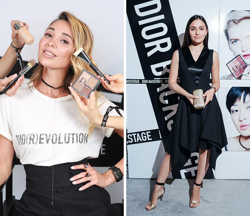 Презентация коллекции профессионального макияжа Dior Backstage Line. Александра Кириенко. Мария Мельникова