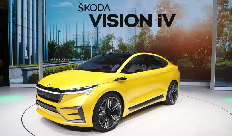 Cars with Jan Coomans. Geneva International Motor Show 2019. Skoda Vision iV
