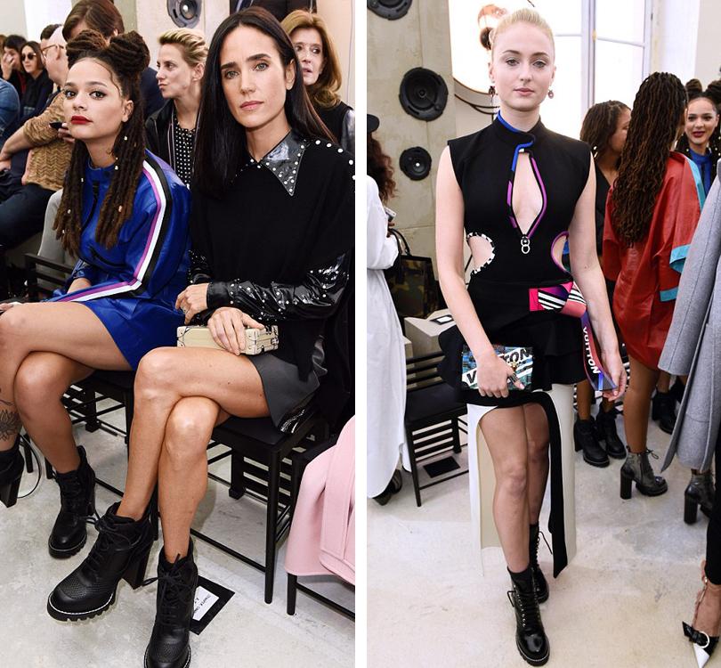 Style Notes: показ Louis Vuitton на Неделе моды в Париже. Дженнифер Коннели, Софи Тернер