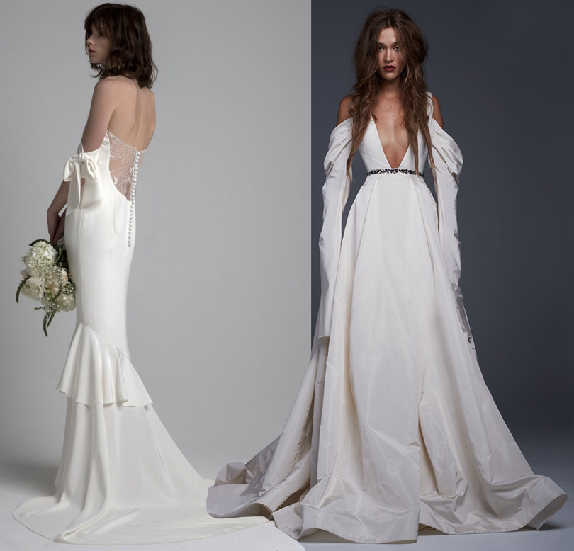 Wedding & More: 6 актуальных трендов с Недели свадебной моды в Нью-Йорке. Платья Sachin &Babi, Vera Wang