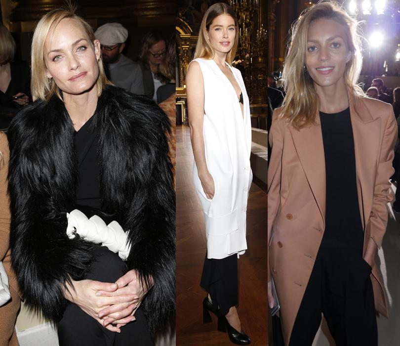 Звездные гости Недели моды в Париже, 2016: Амбер Валетта, Даутцен Крез, Аня Рубик