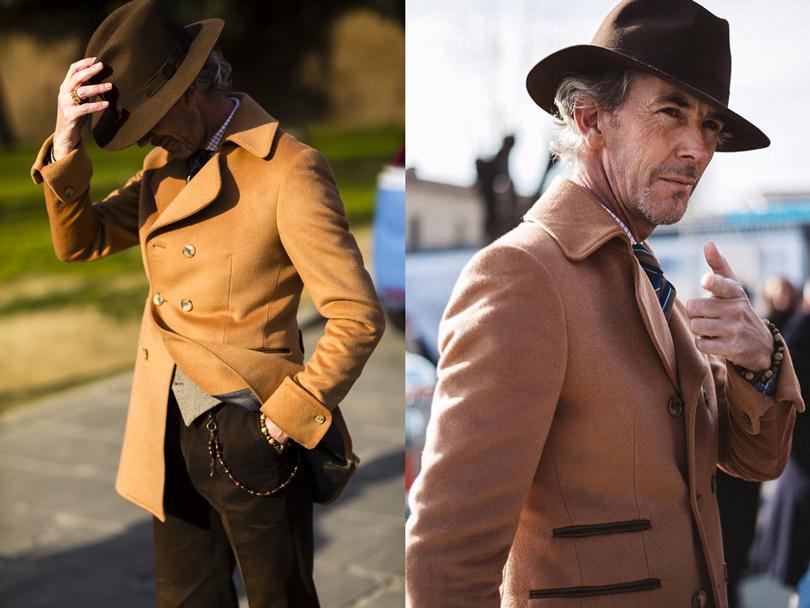 Men in Style: уличная мода на выставке Pitti Uomo. Дизайнер мужских костюмов TMichael