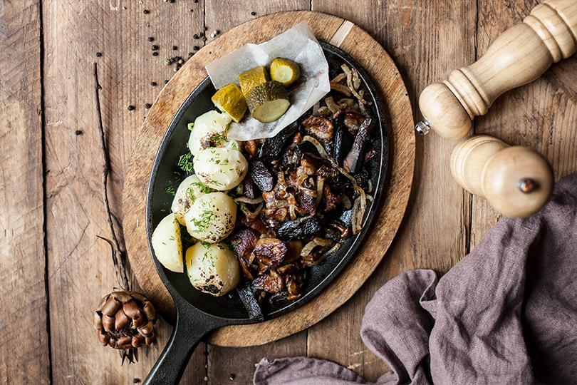 Грибная дюжина: что готовят вмосковских ресторанах избелых грибов. «Шинок»