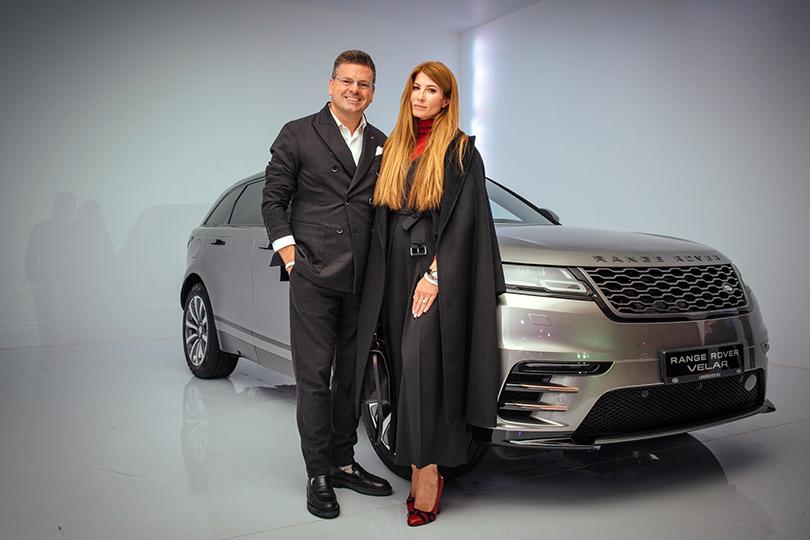 Российская премьера Range Rover Velar вМузее Москвы: Константин Андрикопулос иОльга Цыпкина