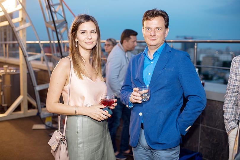 Вечеринка Simple Pleasures Rooftop Party. Наталья Шевалькова и Дмитрий Шевцов