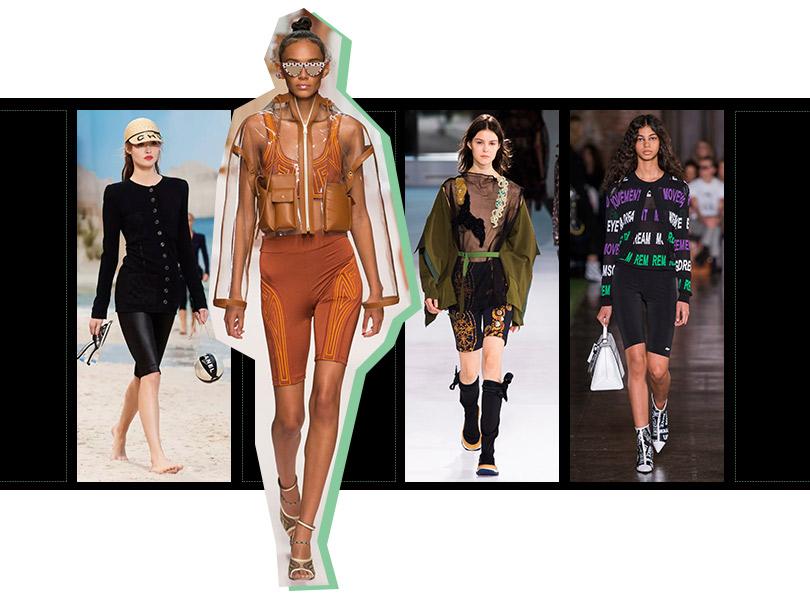 Велосипедные шорты: Chanel, Fendi, Toga, MSGM