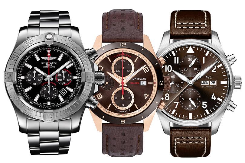 Breitling Super Avenger01, Montblanc TimeWalker, IWC Big Pilot's Watch Double Chronograph
