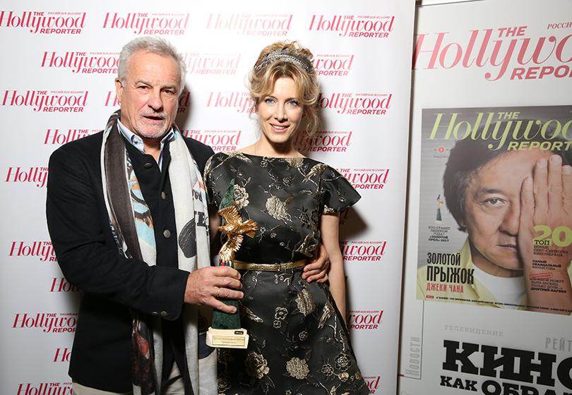 КиноТеатр: премия «Золотой орел» в 2017 году. Сергей Ястржембский с женой Анастасией