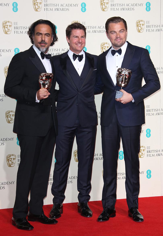 Церемония вручения премий BAFTA 2016 в Лондоне: Алехандро Гонсалес Иньярриту, Том Круз и Леонардо Ди Каприо
