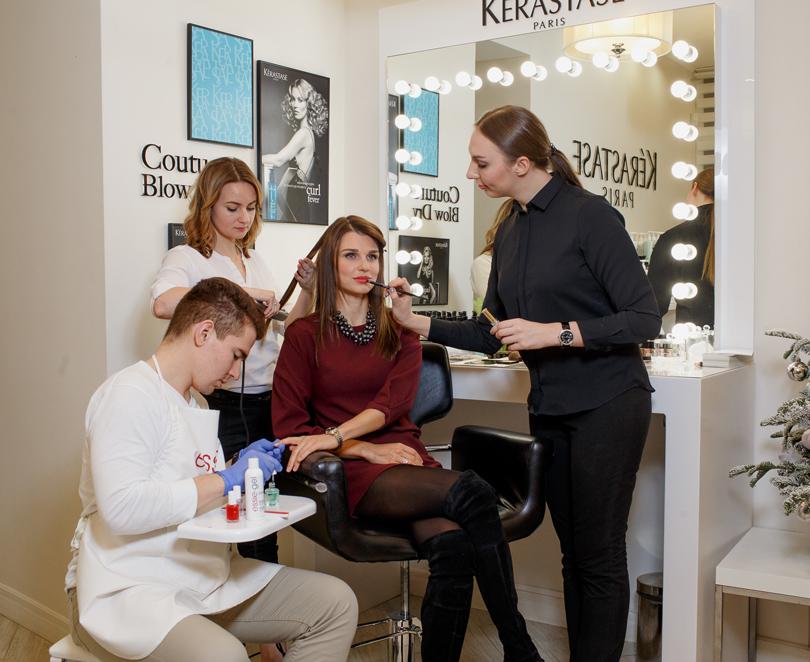 Новогодние предложения бьюти-корнера The Couture Blow Dry byKerastase всалоне красоты «Концепт»