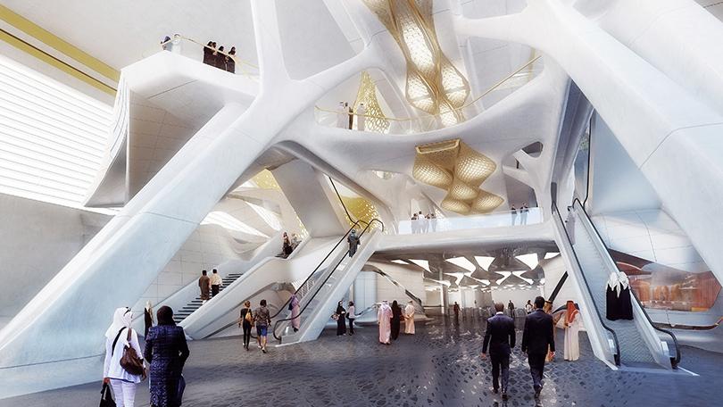 Станция метро вЭр-Рияде, Саудовская Аравия