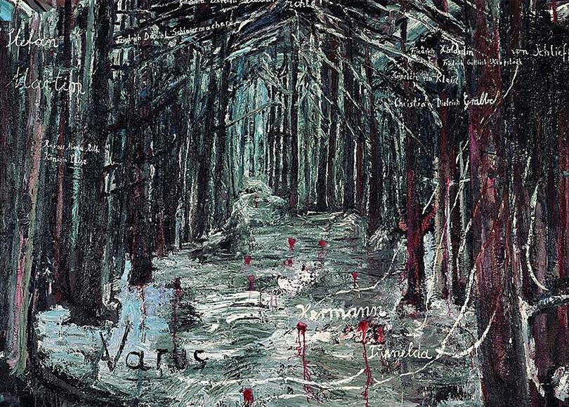 «Ансельм Кифер— Велимиру Хлебникову». Ансельм Кифер. «Варус», 1976г.
