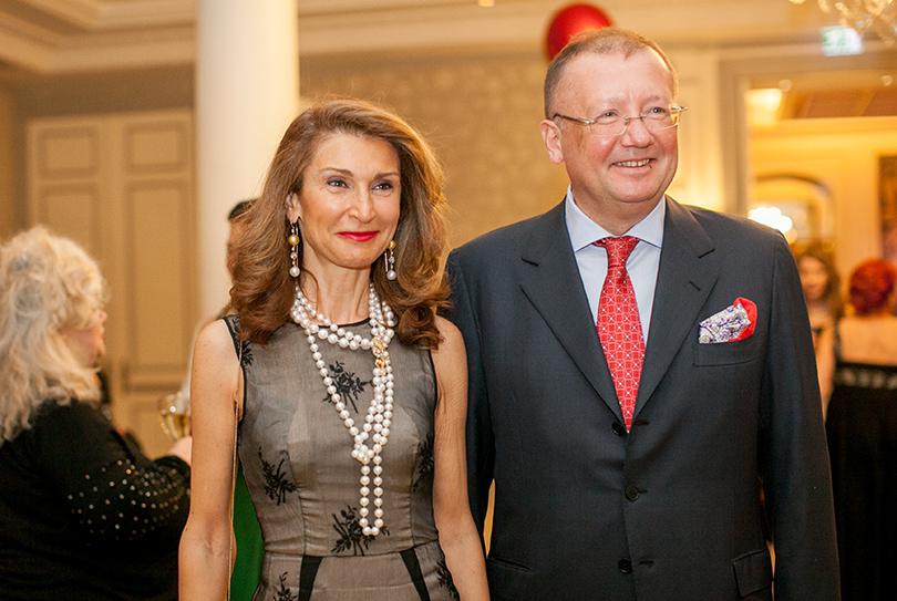 Посол РФ в Великобритании Александр Яковенко с супругой