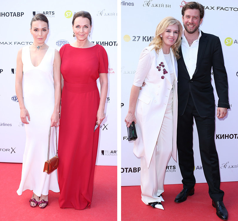 Звезды на открытии «Кинотавра-2016»: Агния Дитковските в Dior и Татьяна Лютаева. Марианна Сардарова с сыном