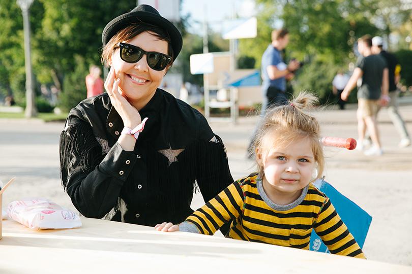 Ольга Шелест с дочкой Музой