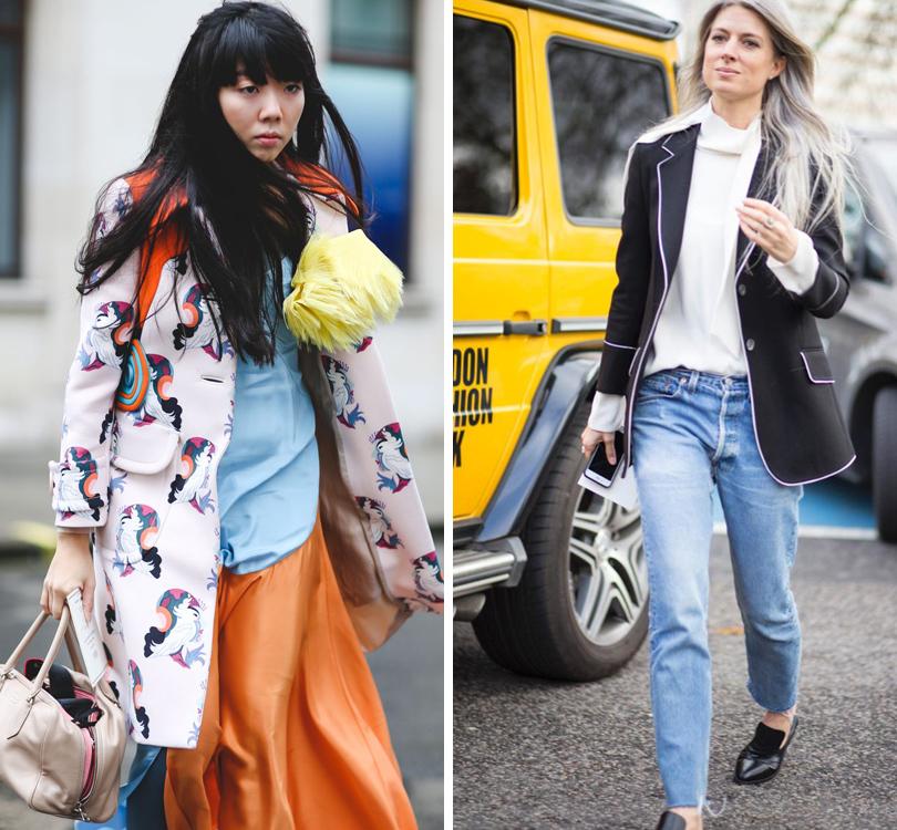 Модный блогер Сьюзи Лоу, директор отдела моды британского Vogue Сара Харрис