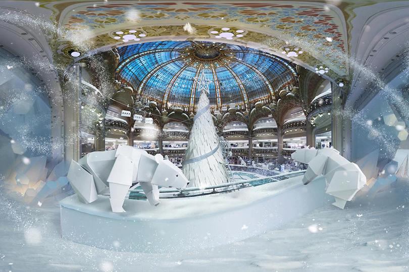 Новый год: праздник кнам приходит— самые красивые рождественские витрины мира. Galeries Lafayette