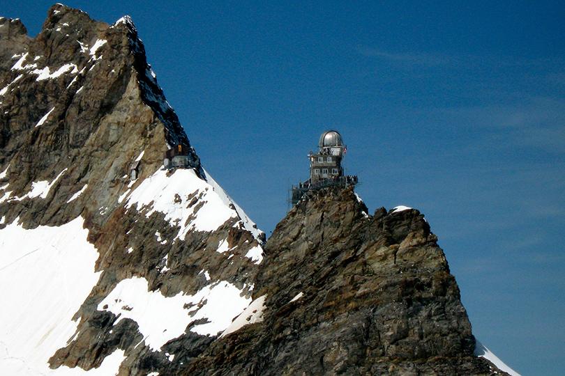 Идея для путешествия: астрономические обсерватории, вкоторые открыт доступ туристам. Обсерватория «Сфинкс», Швейцария, высота 3571 метр