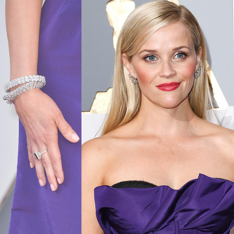 Ювелирные украшения звезд на церемонии «Оскар-2016»: Риз Уизерспун в Tiffany &Co.