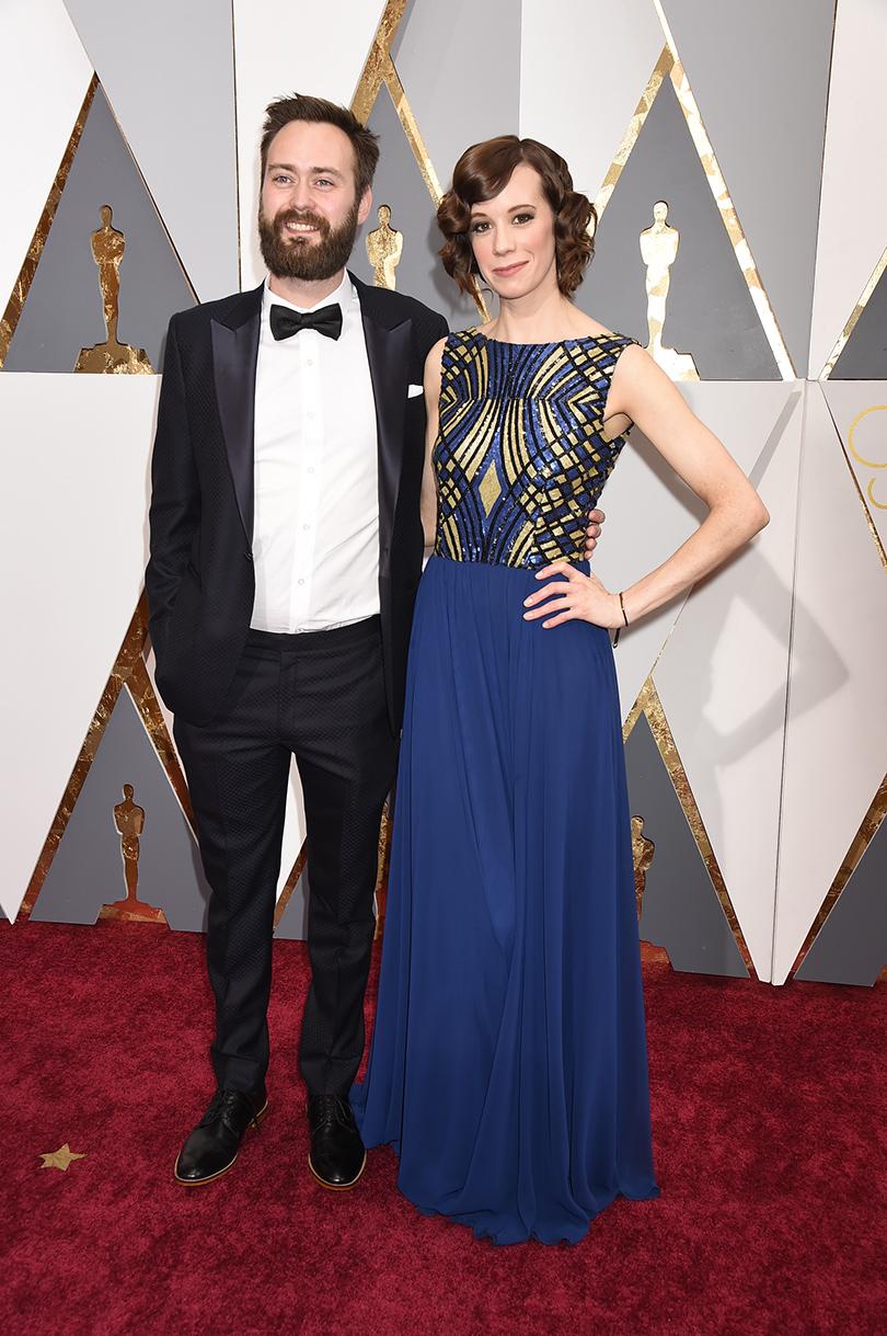 Звездные пары на церемонии вручения кинонаград «Оскар-2016»: Бенджамин Клири и Хлоя Пирри