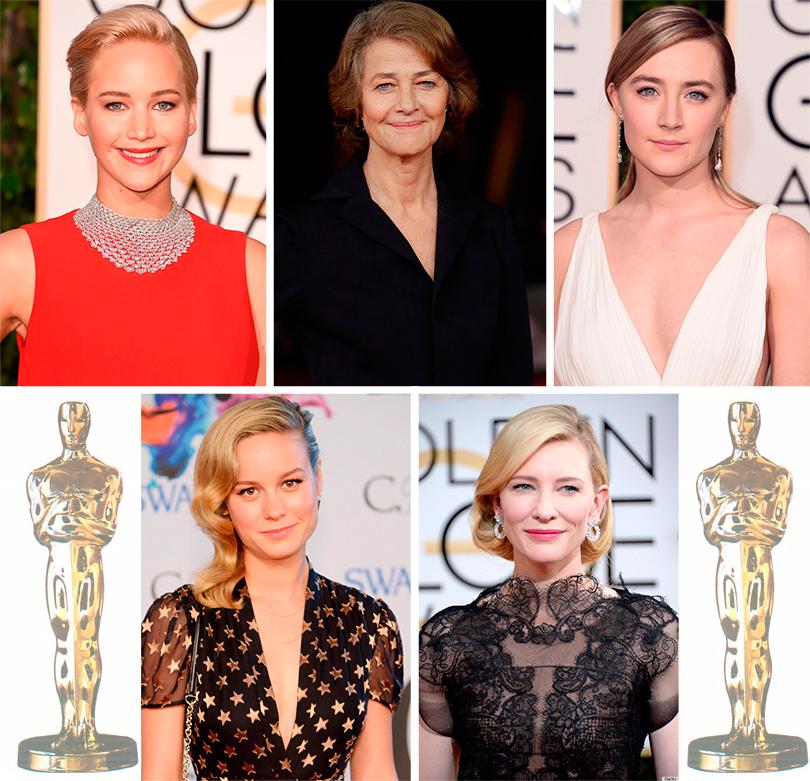 Номинанты кинопремии «Оскар»: Дженнифер Лоуренс, Шарлотта Рэмплинг, Сирша Ронан, Бри Ларсон, Кейт Бланшетт