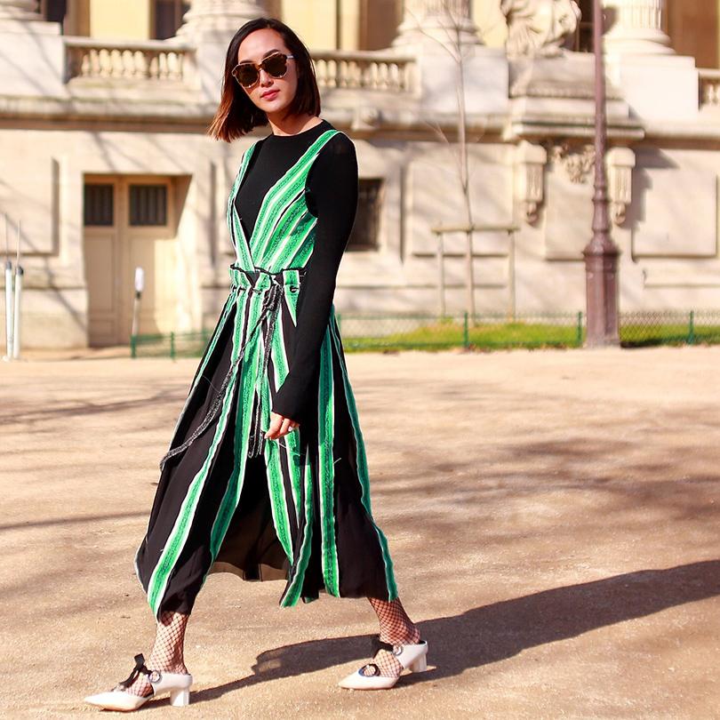Уличный стиль наParisFashionWeek, 2016. Модный блогер Крисел Лим